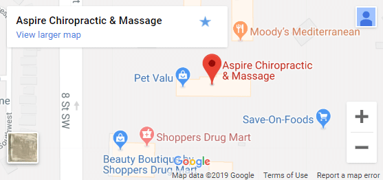 Map of Airdrie Chiropractors